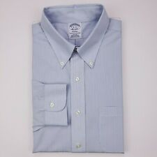 Brooks Brothers 16 32 Regent Dress Shirt Blue Striped Non Iron American Supima