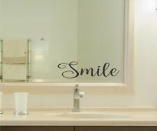Smile Vinyl Decal Sticker bathroom mirror wall art motivational