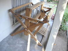 Weaving Loom Floor Vintage Kessenich 6 Pedal Large Wooden Wood 4 Harness Rug