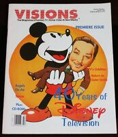 Walt Disney Television History Visions Magazine 1995 Mickey Mouse Premiere Issue
