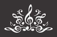 Musical Notes Lotus Flower 611- Die Cut Vinyl Window Decal/Sticker for Car/Truck
