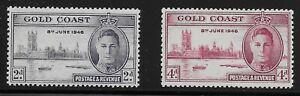 Gold Coast Scott #128-29, Singles 1946 Complete Set FVF MH