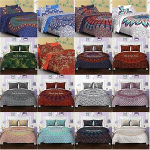 Mandala Quilt Duvet Cover Bedding Cotton Queen Size Doona Cover Indian Bed Set