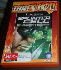 PC CD Tom Clancy's Splinter Cell Chaos Theory