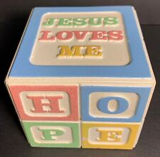 "Baby Music Box Alphabet Block Plays ""Jesus Loves Me"" Baby Lullaby Nursery"