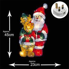 Iluminación Interior Ventana Navidad Silueta - Santa-Reindeer