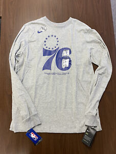Nike Team/Player Issued Philadelphia Sixers 76ers Long Sleeve Size M CD2826-063