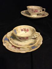 SELTMANN WEIDEN BAVARIA TRIO MADE IN GERMANY CUP, SAUCER, PLATE 2 sets blue