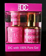 DND DC Soak Off Gel Polish Brilliant Pink 013 LED/UV 6oz 18ml Gel Duo Set NEW