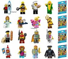 LEGO 71018 MINIFIGURES Series 17 COMPLETE SET of 16 figures with unused code