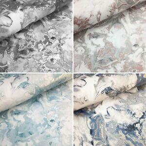 Muriva Elixir Liquid  Marble Metallic Shimmer Swirl Heavyweight Wallpaper