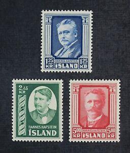 CKStamps: Iceland Stamps Collection Scott#284-286 Mint H OG