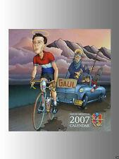Les Héros du Vélo 2007 Bike Calendar, Illustrated by David Brinton, Size 13x13