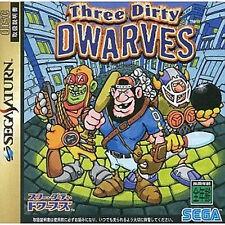 SEGA SATURN Japan Japanese Import Game SS  Three Dirty Dwarves