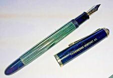 Pelikan 400 Grün gestreift 14K 585 Goldfeder Füller Kolbenfüller Füllfederhalter