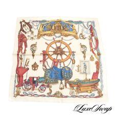 DEADSTOCK NIB Hermes Made in France 100% Silk Ledoux Musee Silk Pochette Scarf