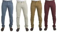 MENS NEW JEANS NEXT SLIM FIT CHINOS IN STONE TOBACCO WINE & STEEL BLUE COLOURS