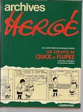 Archive Hergé Tome 2 Les exploits de Quick et Flupke  +Cet aimable M. Mops /1979