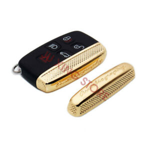 For Range Rover Sport Evoque Land Rover Gold Remote Metal Key Side Cover Shell