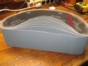 "4"" x 36"" Resin Bond Zirconia Alumina Sanding Belt 180 Grit Polyester Cloth X-wt"