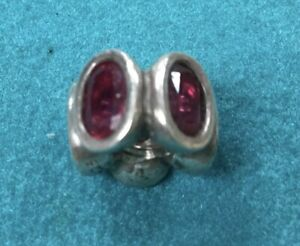 Authentic Pandora Charm 925 - Oval Lights #790311RU - Synthetic Ruby