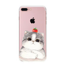 Pink Cartoon Cat Rubber Soft Silicone Back Phone Case Cover For iPhone 5/5S/SE