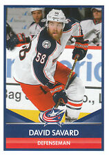 16/17 PANINI NHL STICKER #60 DAVID SAVARD BLUE JACKETS *24734