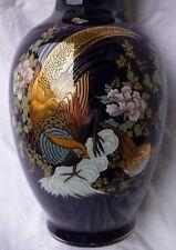 schöne alte Vase mit Dekor Pfau - GK710-0619