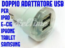 DOPPIO ADATTATORE ACCENDISIGARI 12 24V  1 2 AMPERE USB CARICABATTERIA PALMARI