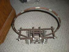 Antique Primitive Basket Folk Art Silver Paint Vintage 1900's Baskets Collectibl