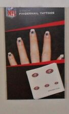 NFL SAN FRANCISCO 49ERS 20 FINGERNAIL TATTOOS DECALS FAST FREE SHIPPING