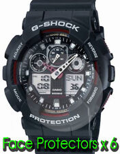 CASIO G-Shock GA100-1A glass display face protector x 6 protect from scratches
