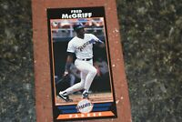 BASEBALL CARD RARE BOOKMARK FRED McGRIFF SAN DIEGO PADRES COLLA COLLECTION