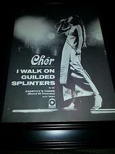 Cher I Walk On Guilded Splinters Atco Rare Original Promo Poster Ad Framed!