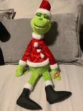 The Grinch Movie 22 inch Santa Grinch Plush Plays Music ! Just Play ! Sold Out