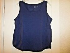 CHICO'S ZENERGY SOLID TANK NAVY BLUE NWT ASST'D SIZES
