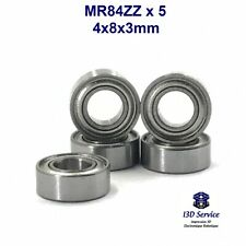 MR84ZZ - Lot de 5 roulements miniatures MR84ZZ 4x8x3mm