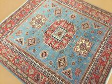 5.6 X 5.7 Square Light Blue Fine Super Kazak Persian Oriental Rug Hand Knotted