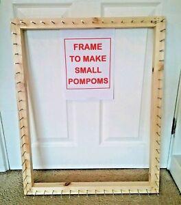 Frame/loom to make pom pom blankets  27 x 21 inches