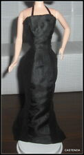 DRESS BARBIE DOLL GIVENCHY BLACK HALTER  LINED EVENING GOWN ACCESSORY CLOTHING