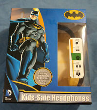 Sakar Batman Kids Safe Headphones, DC Comics, DJ Stereo, Over The Ear, New