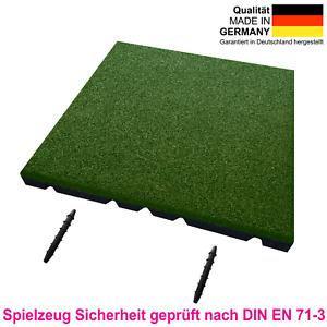 Fallschutzmatten, Spielplatzmatten, Gummiplatten, Fallschutzplatte 45mm grün
