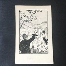Dessin Original Esquisse 1920 Illustration Livre Enfants Signé M. Moulinié