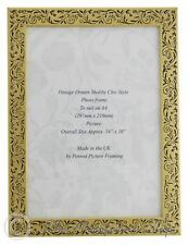 Handmade Vintage Gold and Black Floral Picture Frame for an  A4 Photo.