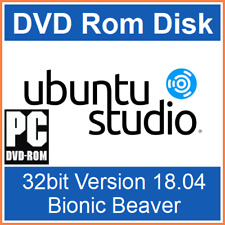 32 Bit Ubuntu Studio 18.04 Bionic Beaver Operating System OS Bootable DVD-Rom UK