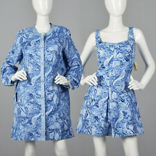 XXL 1960s Abercrombie & Fitch Swimsuit Romper Dress Cover-Up Plus Size 60s NOS