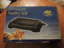 Handy Gourmet Indoor Electric Smoke Free Grill 850 Watts Excellent Condition