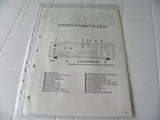 Yamaha Original Service Schematic K-550/560  Stereo Cassette Deck