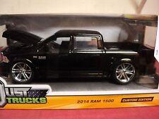 Jada 2014 Dodge Ram 1500 pickup Nib custom edition 1/24 scale Black exterior