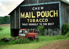 Photo magnet Mail Pouch Tobacco Sign w/International B-160 Oakland MD - original